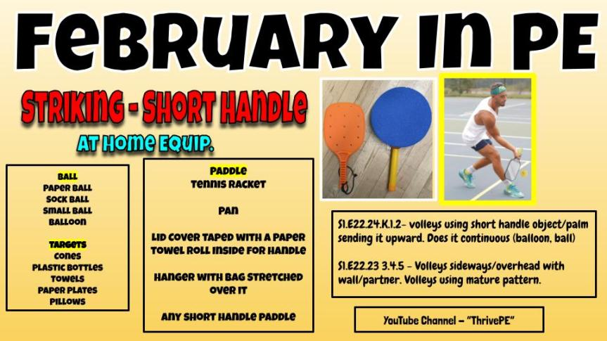 February PE Newsletter with Mr. K